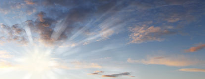 Sunlight in sky Stock Photography