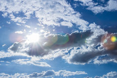 Sunlight sky and cloud. At midday during summer time Royalty Free Stock Photo