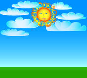 Sunlight smiling face Royalty Free Stock Photos