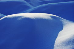 Sunlight on snow field. The sunlight fell aslant the surface of snow Royalty Free Stock Images