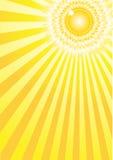 Sunlight solar a4. Sunburst background for your text Stock Photo