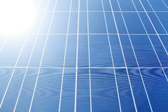 Sunlight on Solar Panels Royalty Free Stock Image