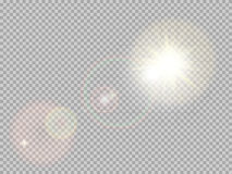 Sunlight special lens flare. EPS 10 Stock Images
