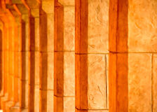 Sunlight through stone columns Royalty Free Stock Image