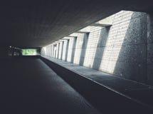 Sunlight Streaming Through Concrete Opening of Underground Passageway Royalty Free Stock Image