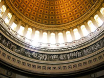 Sunlight streaming inside of US Capitol Rotunda Royalty Free Stock Images