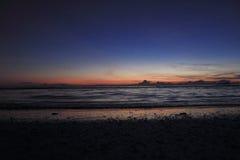 Sunlight. Sun twilight sea royalty free stock photos