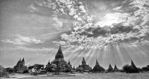 Sunlight and temples Royalty Free Stock Photos