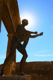 Sunlight to god Apollo statue in Pompeii Stock Photography