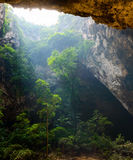 Sunlight from top hole of cave in Royal pavilion in the Phraya Nakhon Cave, Prachuap Khiri Khan, Thailand Stock Photos