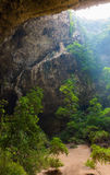 Sunlight from top hole of cave in Royal pavilion in the Phraya Nakhon Cave, Prachuap Khiri Khan, Thailand Royalty Free Stock Image