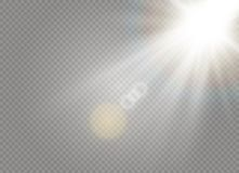 White Sunlight light vector illustration