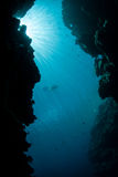 Sunlight and Underwater Grotto Royalty Free Stock Image