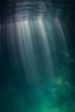 Sunlight Underwater Stock Photo