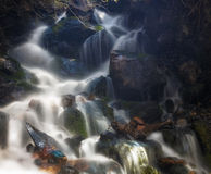 Sunlight Water  Glow. Slow exposure waterfall in the Wasatch national forest in Utah USA Stock Photography