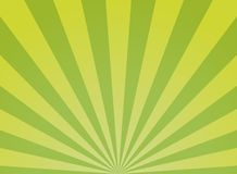 Sunlight wide abstract background. Green color burst background. Vector illustration. Sun beam ray sunburst pattern background. stock illustration