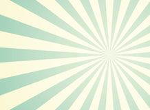 Sunlight wide retro faded background. Pale green and beige color burst background. vector illustration