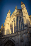 Sunlight on Winchester cathedral Stock Image