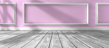 Sunlight through the window and interior room home background Royalty Free Stock Images