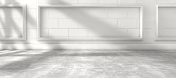 Sunlight through the window and interior room home background Royalty Free Stock Photography