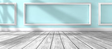Sunlight through the window and interior room home background Royalty Free Stock Photos