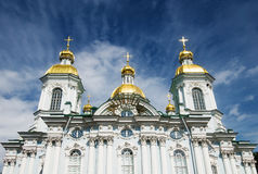 Sunlighted cupola of St.Nicholas Cathedral Royalty Free Stock Images