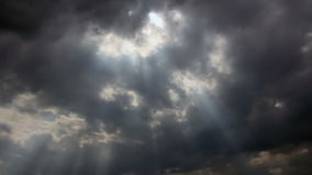 Sunlights auf Wolken stock footage