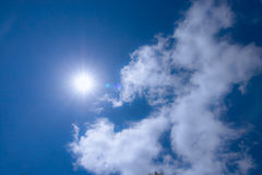 Sunlights blue sky and cloud Royalty Free Stock Photography