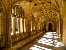 Sunlit Abtei Stockbild