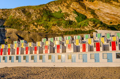 Sunlit Beach Huts Royalty Free Stock Image