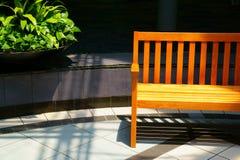 Sunlit Bench Royalty Free Stock Image