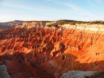Sunlit canyon. Hoodoos rock formation in Cedar Breaks National Monument, Utah Stock Photo