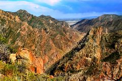 Sunlit canyon. Arkansas river. Stock Images