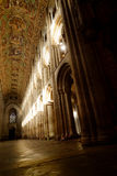 Sunlit Cathedral Interior Royalty Free Stock Photography