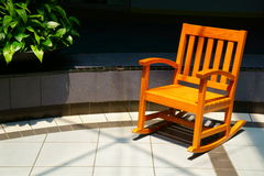 Sunlit Chair Royalty Free Stock Photos