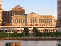 Sunlit city hall Stock Image