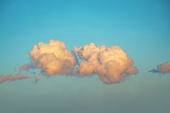 Sunlit clouds evening mood Royalty Free Stock Image