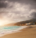 Sunlit coast of Italy Royalty Free Stock Photo