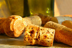 Sunlit corks Royalty Free Stock Photos