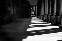 Sunlit corridor Stock Image