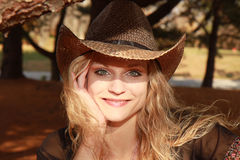Sunlit Cowgirl Royalty Free Stock Image