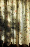 Sunlit curtains, with shadows Stock Photos