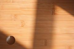 Sunlit cutting board. Stock Photos