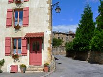 Sunlit facade of a house in Montm�dy Royalty Free Stock Photography