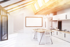 Sunlit kitchen interior Royalty Free Stock Images