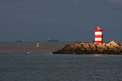 Sunlit lighthouse Royalty Free Stock Images