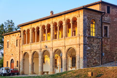 Sunlit Loggia - Montepulciano royalty free stock photography
