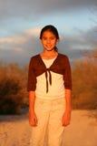 Sunlit Mädchen Lizenzfreie Stockbilder