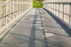 Sunlit metal passage Stock Images