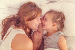 Sunlit morning family Stock Photo